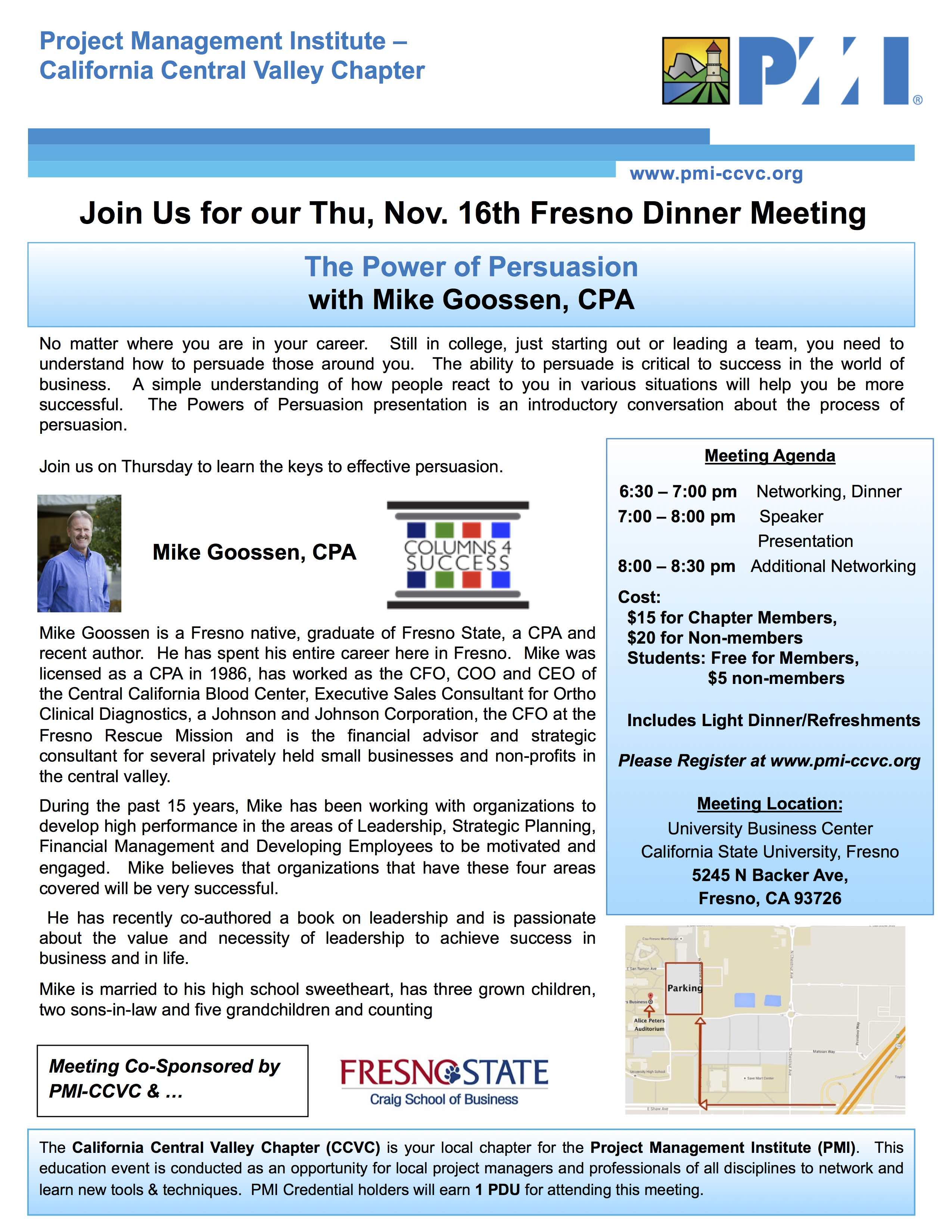 Fresno November 2017 Meeting Flyer