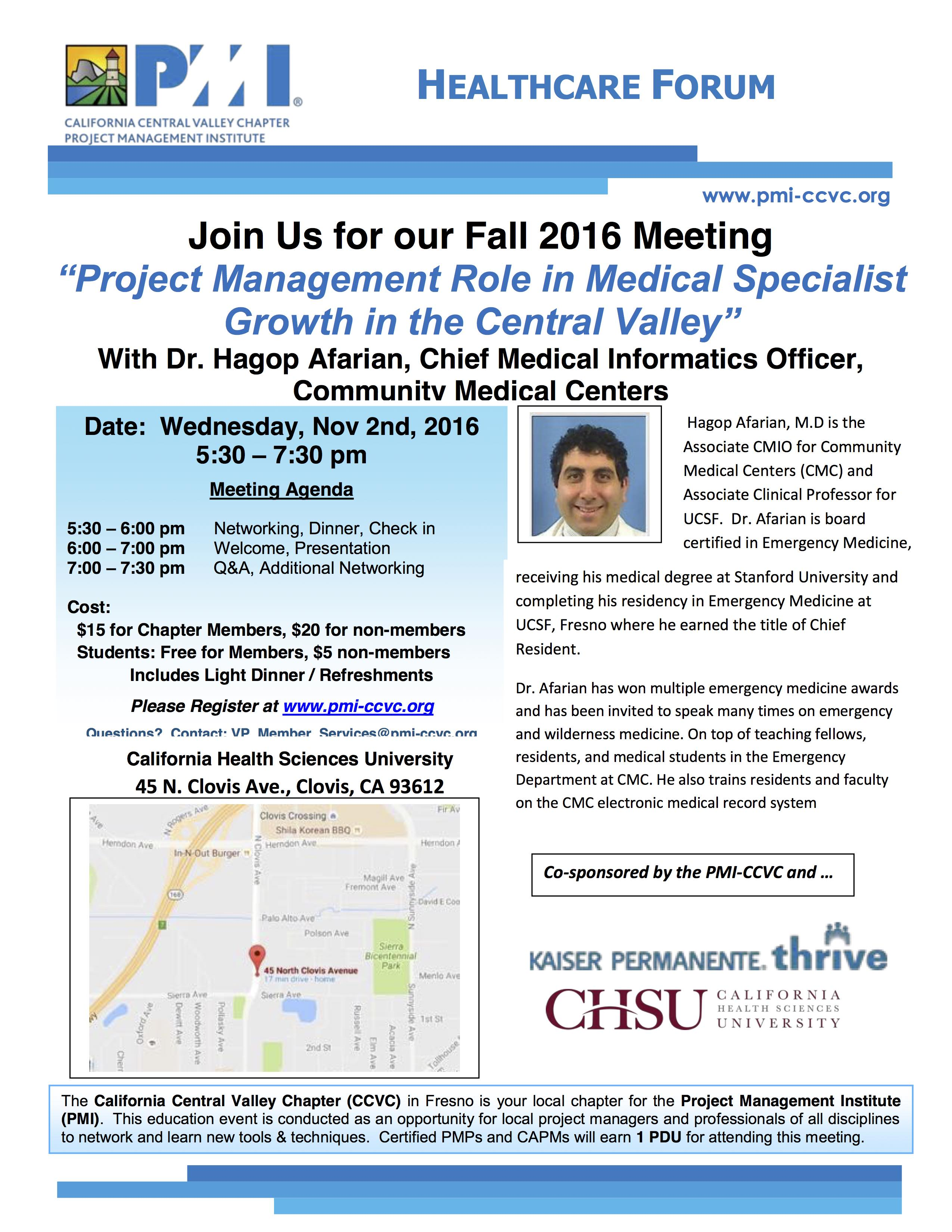 Nov 2 2016 Healthcare Meeting
